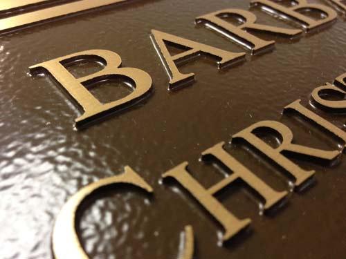 cast bronze memorial plaques