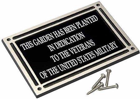 Flat mounted memorial plaque